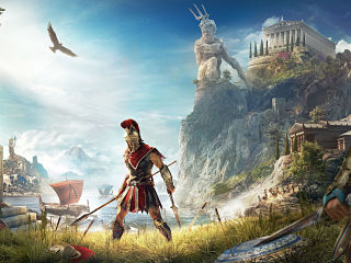 Jeux video, le jeu Assassin s Creed Odyssey d Ubisoft sort sur PS4