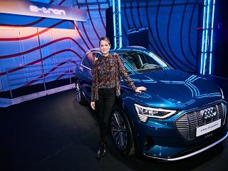 Audi e tron : Marion Cotillard lance le SUV electrique de la marque allemande