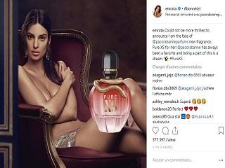 Paco Rabanne a elu Emily Ratajkowski comme egerie du parfum Pur Xs For Her.