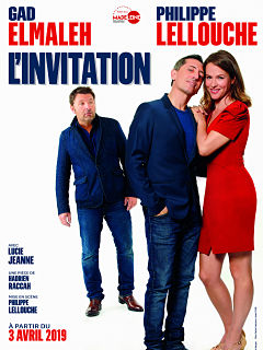 Piece de theatre L Invitation avec Gad Elmaleh, Philippe Lellouche et Lucie Jeanne