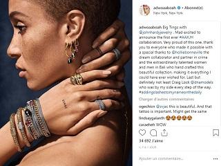 John Hardy : Adwoa Aboah a cree une collection de bijoux pour le joaillier