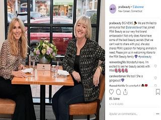 PRAI Beauty : Alana Stewart, l ex mannequin est ambassadrice de la marque de cosmetique