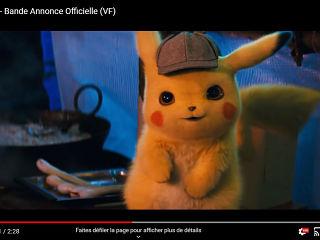 Film Detective Pikachu de Rob Letterman, une bande annonce avec Ryan Reynolds