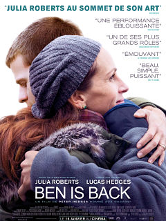 Film Ben is Back avec Julia Roberts et Lucas Hedges, une bande annonce