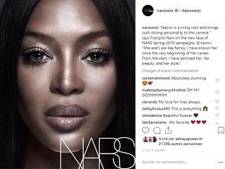 Nars Cosmetics : Naomi Campbell, la mannequin egerie de la marque