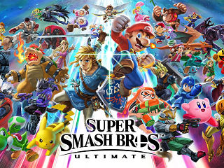 Jeux video, le jeu Super Smash Bros Ultimate de Nintendo sur console