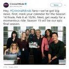 Série TV : « Esprits criminels » aura une saison 15