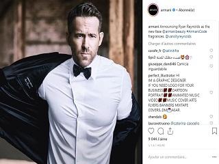 Armani : Ryan Reynolds, l acteur lance un parfum de la marque