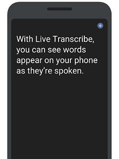 Application mobile Google pour malentendants, Live Transcribe et Sound Amplifier