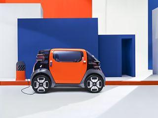 Citroen Ami One Concept, citadine biplace avec moteur electrique La citadine « Ami One Concept » sera présentée au Salon de Genève © Courtesy of Citroën