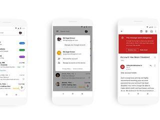 Application mobile de Gmail sous Android, une mise a jour de Google