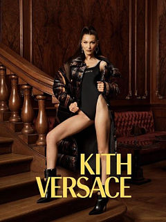 Collection de vetements Kith x Versace avec Bella Hadid comme egerie