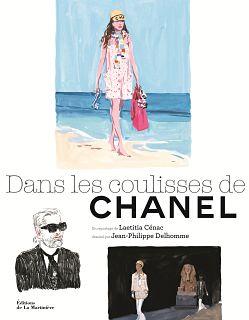 Livre sur Chanel, la maison francaise et son directeur artistique Karl Lagerfeld dans un ouvrage de Laetitia Cenac