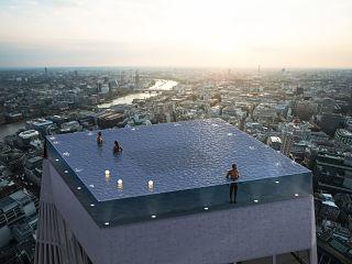 Piscine Compass Pool, construction d un bassin sur le toit d un building a Londres