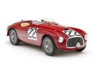 Ferrari 166 MM Barchetta, la voiture exposee au Concours d elegance du chateau de Hampton Court