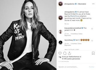 Karl Lagerfeld stylise par Olivia Palermo : le grand couturier et l influenceuse americaine s associent pour une collection