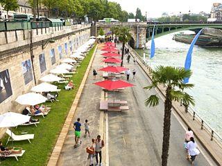 Paris plages, des activites sportives sur la Seine et a la Villette pendant l ete