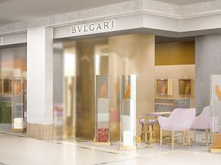 Joaillier Bvlgari, une boutique parisienne dans le Bon Marche Rive Gauche