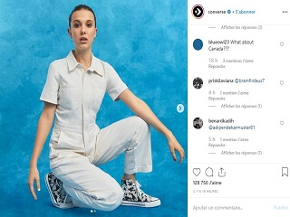 Converse : Millie Bobby Brown, l actrice britannique signe une collection de sneakers