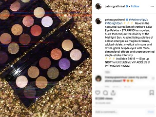Collection de maquillage : Pat McGrath Labs, l entreprise de luxe devoile sa palette sur Instagram
