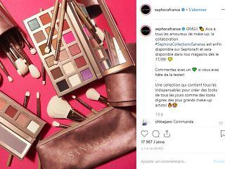 Sananas et Sephora, la youtubeuse francaise concoit une collection de makeup pour la griffe de cosmetiques