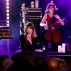 La chanteuse française Carla Bruni s'est produite au Lavandou
