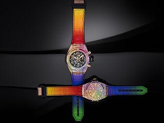 Hublot Big Bang, les montres de l horloger suisse avec un arc en ciel