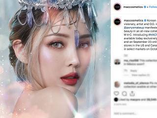 Pony: Mac choisit l influenceuse coreenne pour sa gamme de maquillage et de beaute