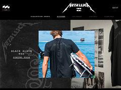 Billabong x Metallica, collection mode basee sur les albums du groupe de metal