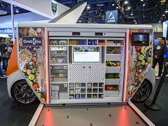 Mobilite du futur au CES 2020, tricycle et minibus futuriste au salon