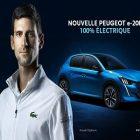Novak Djokovic est le nouveau représentant de Peugeot