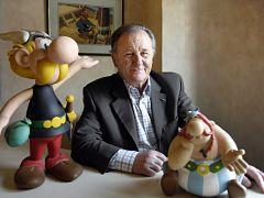 Dessinateur Albert Uderzo, createur d Asterix avec Rene Goscinny