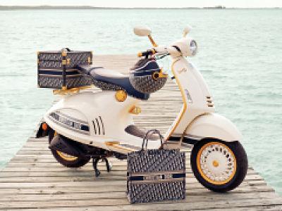 Dior signe une Vespa grand luxe pour le printemps 2021