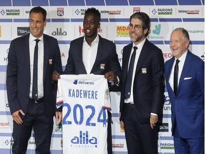 Tino Kadewere a rejoint l'effectif de l'Olympique lyonnais