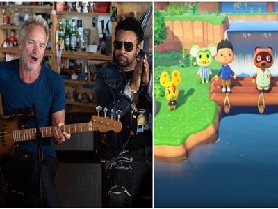 Sting et Shaggy dans Animal Crossing pour présenter leur morceau