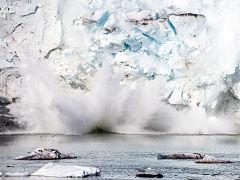 Banquise de l Arctique, fonte de la calotte glaciaire de Groenland