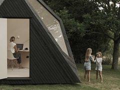 Teletravail, une cabane ou un bureau pour le travail a la maison