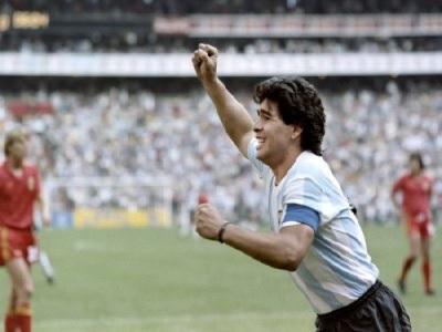 Maradona sur le terrain